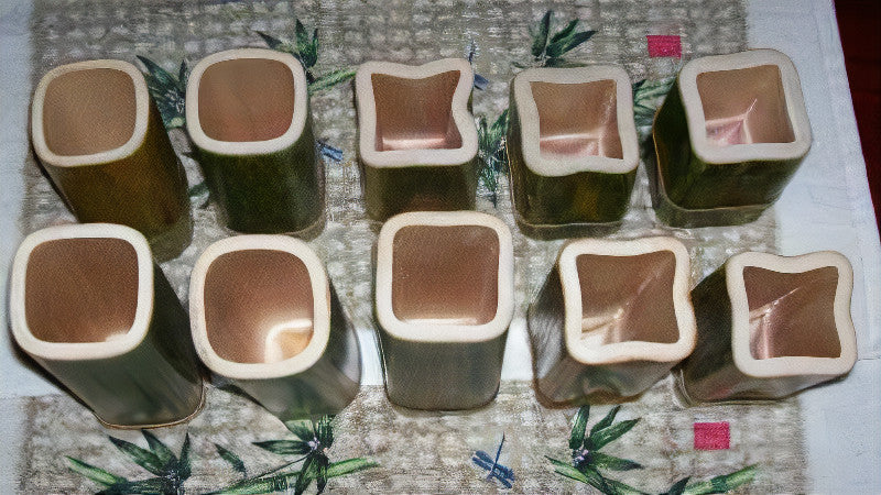 Square Bamboo Container