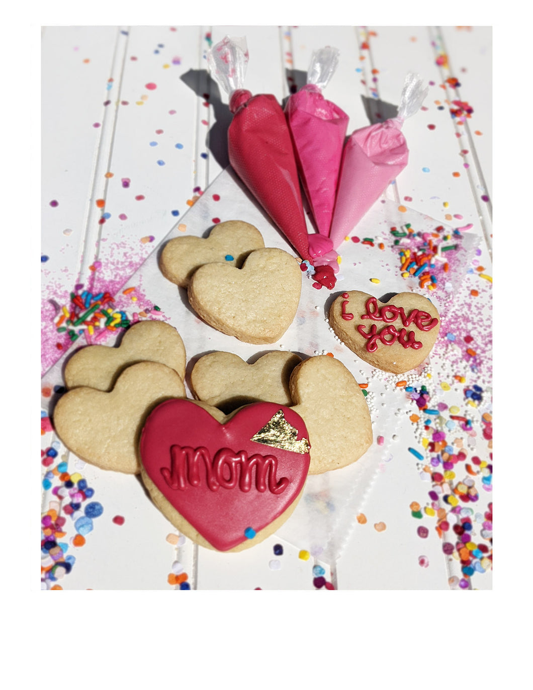 DIY Hearts for Mom cookie kit