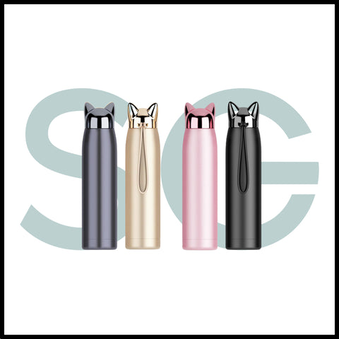 gourde chat thermos