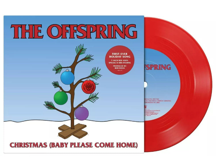 "The OFFSPRING - CHRISTMAS (Baby Please Come Home) NEW RED VINYL 7"" SINGLE"