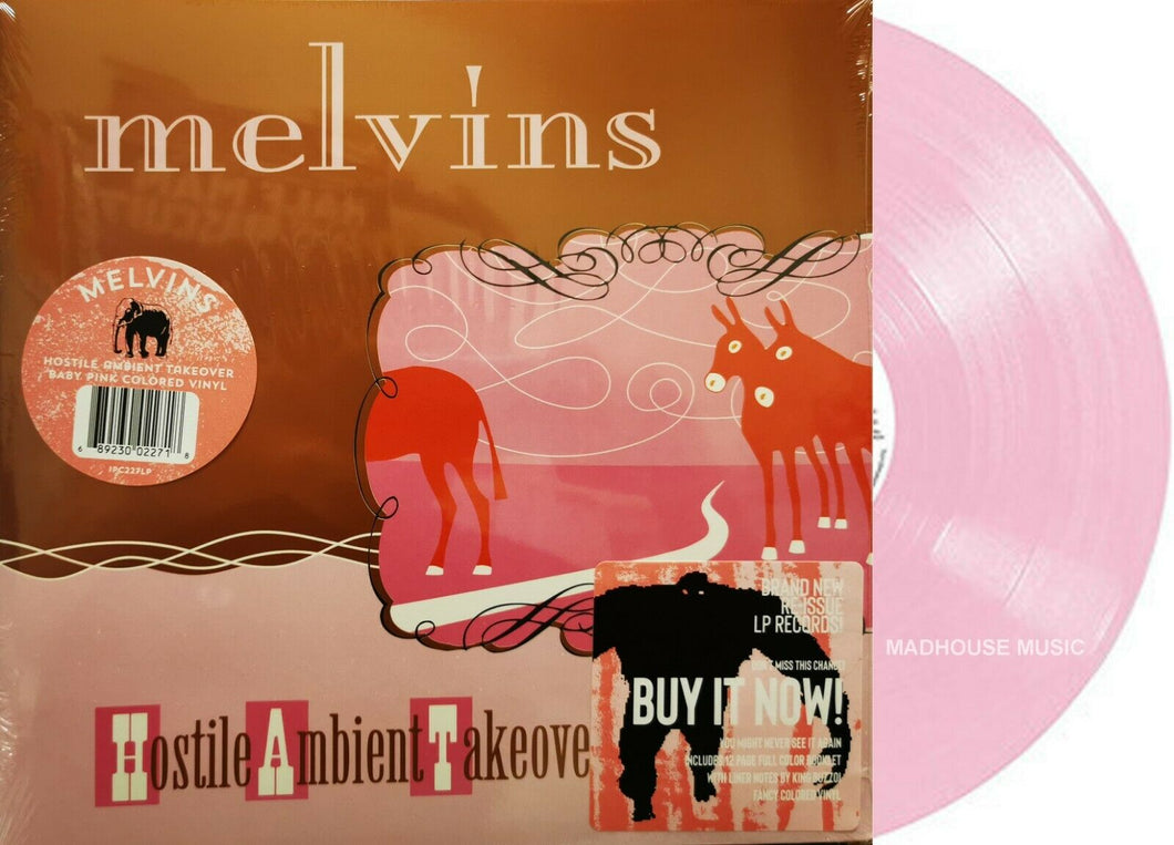 THE MELVINS - Hostile Ambient Takeover (2021) New Ltd Pink Vinyl 140gm VINYL LP