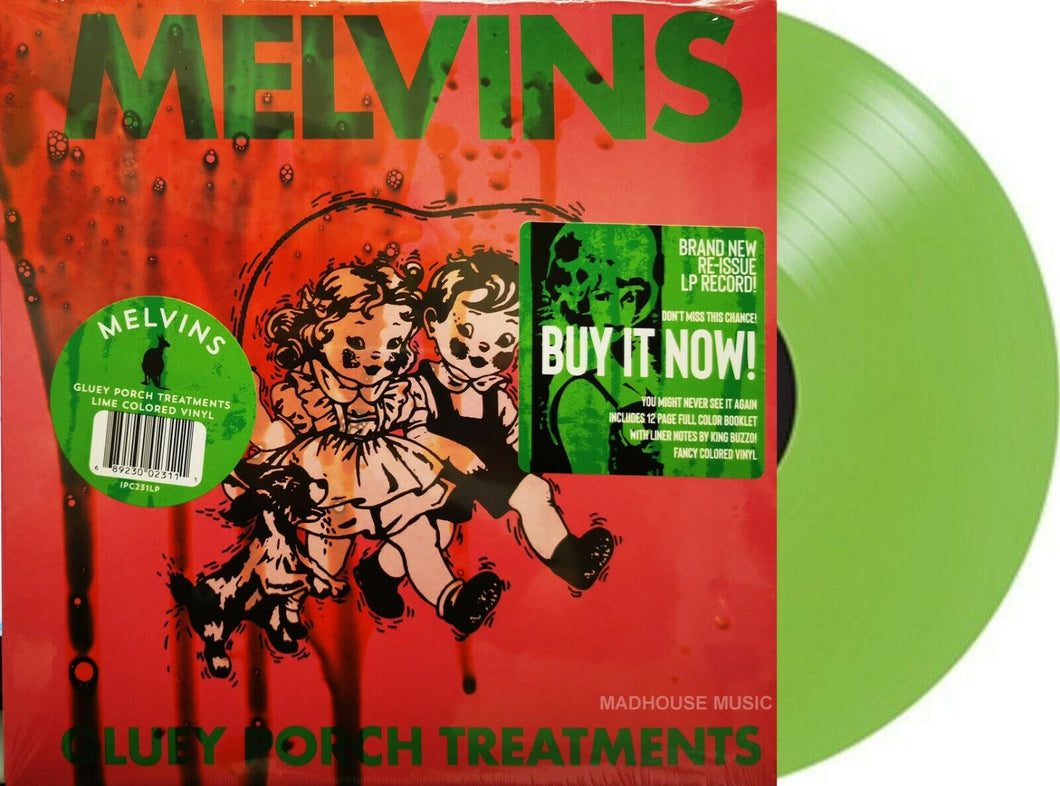 THE MELVINS - Gluey Porch Treatments (2021) New Limited Lime Coloured VINYL LP