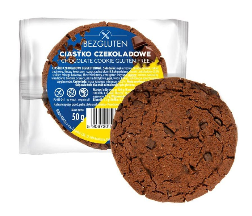 Chocolate Cookie 50g-Bezgluten