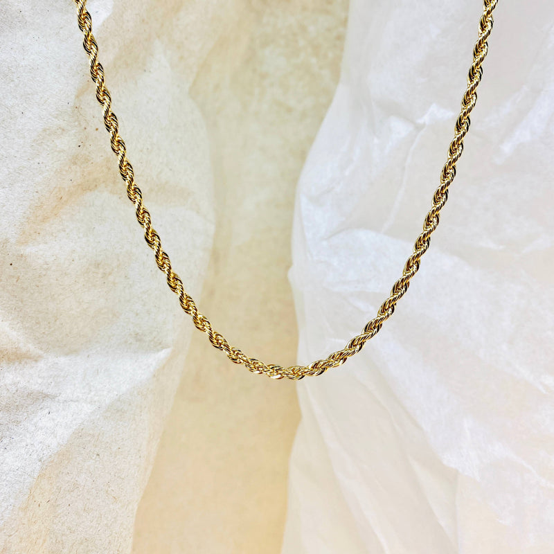 caspian rope gold filled chain