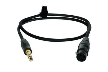 "XLR-F to 1/4"" TS Audio Cable 3 Foot"