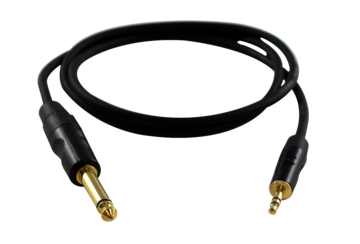 "3.5mm TRS to 1/4"" TS Guitar Cable 3 Foot"