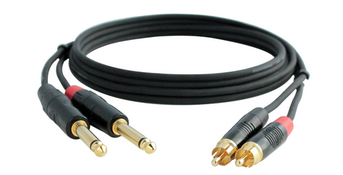 "RCA to 1/4"" TS Audio Cable 3 Foot"
