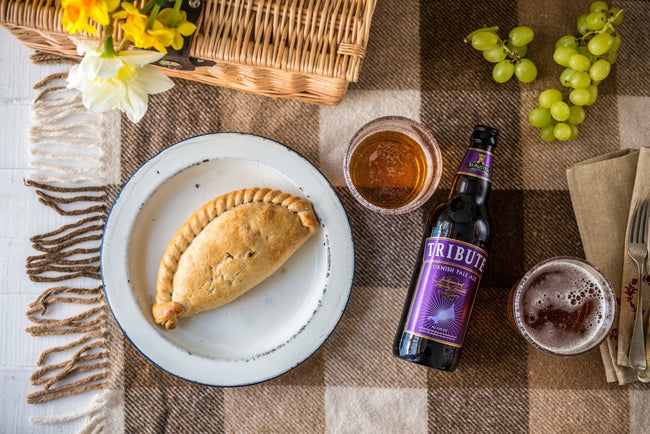 4 x Steak and Tribute Ale Pasties 283g Frozen - Cornwall Hamper Store