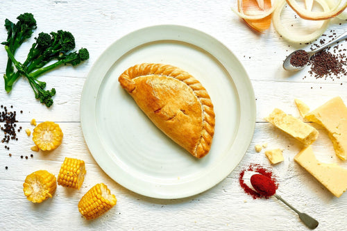 8 x Cheese, Broccoli and Sweetcorn Pasties 283g Frozen - Cornwall Hamper Store