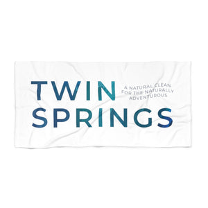 Twin Springs Wave Logo Beach Towel - Twin Springs Co