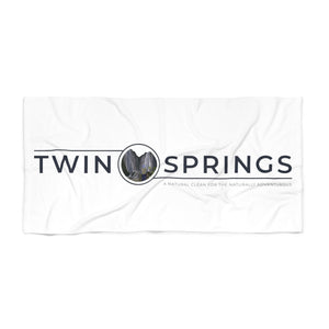 Twin Springs Logo Beach Towel - Twin Springs Co