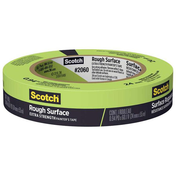 "3M 2060 Scotch Green Masking Tape .94""x60yrd"
