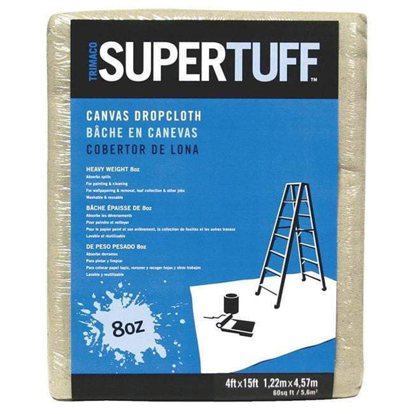Canvas Drop Cloth  4ft X 15ft, 8oz