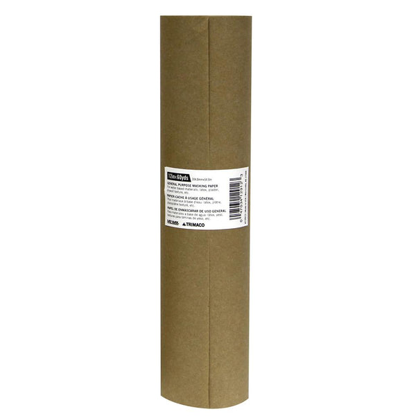 "12"" x 180' Brown General Purpose Masking Paper"