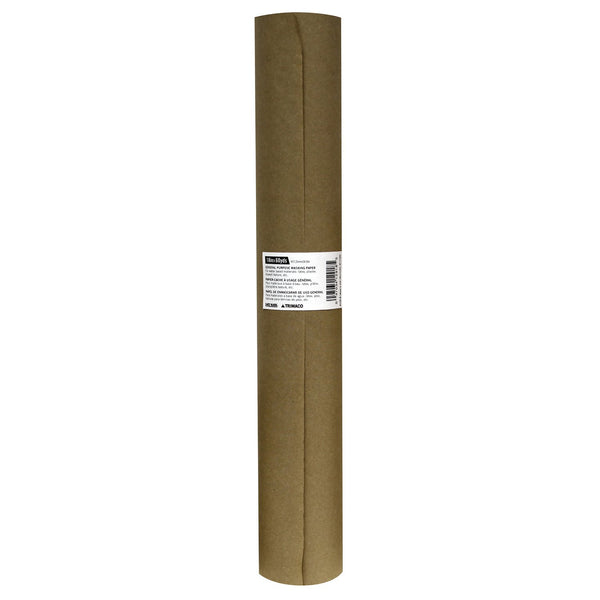 "18"" x 180' Brown General Purpose Masking Paper"