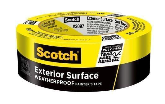 "3M 2097 Scotch Yellow Masking Tape 1.41""x60yrd Roll"