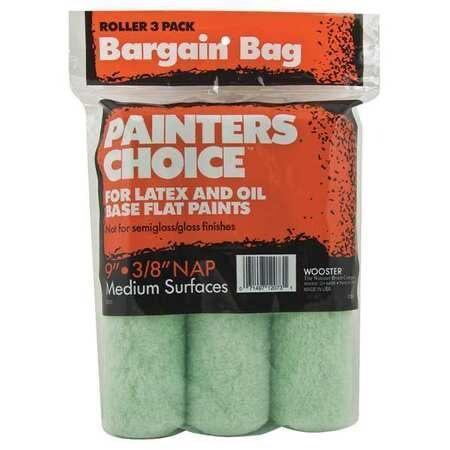Wooster 9x3/8 Painter's Choice Roller Cover 3Pk
