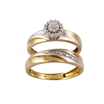RING YELLOW GOLD 10KT WITH DIAMONDS