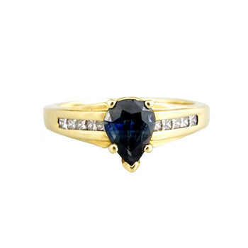 RING YELLOW GOLD 14KT WITH CUBIC ZIRCONIA