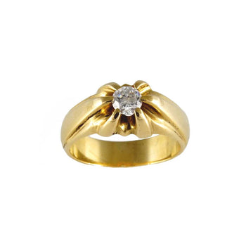 RING YELLOW GOLD 18KT WITH CUBIC ZIRCONIA