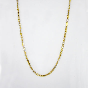 CHAIN GOLD 18KT TWO-COLORS