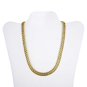 NECKLACE GOLD 10KT TWO-COLORS
