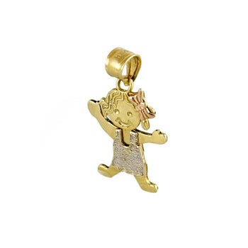 PENDANT CHARM GOLD 14KT TRI-COLORS