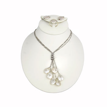 SET WHITE GOLD 18KT WITH PEARLS