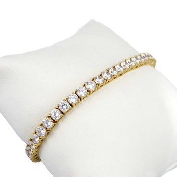 BRACELET YELLOW GOLD WITH CUBIC ZIRCONIA