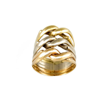 RING GOLD 14KT TRI-COLORS