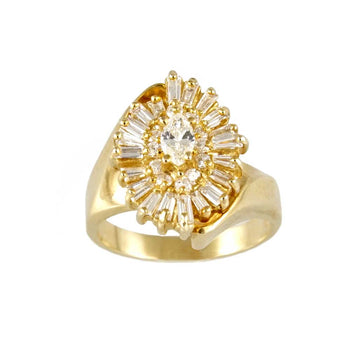 RING YELLOW GOLD 14KT WITH DIAMONDS