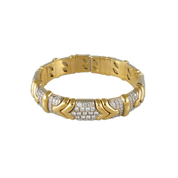 BRACELET GOLD 18KT TWO-COLORS WITH DIAMONDS