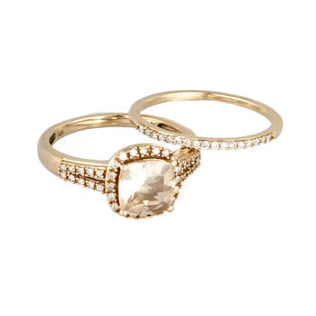RING ROSE GOLD 14KT WITH CUBIC ZIRCONIA