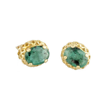 EARRINGS YELLOW GOLD 14KT WITH CUBIC ZIRCONIA