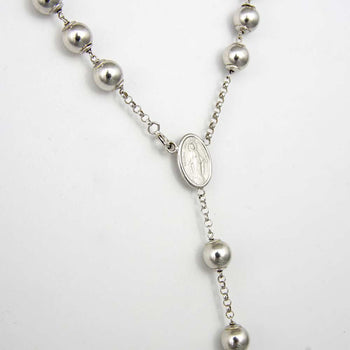 NECKLACE WHITE GOLD 18KT ROSARY