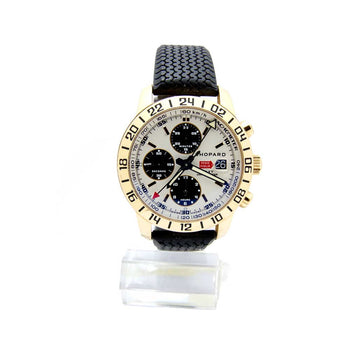 CHOPARD MODEL MILLE MIGLIA 1178436 ROSE GOLD RUBBER STRAP