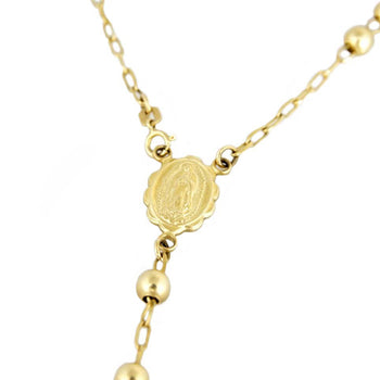 NECKLACE YELLOW GOLD ROSARY