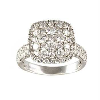 RING WHITE GOLD WITH DIAMONDS