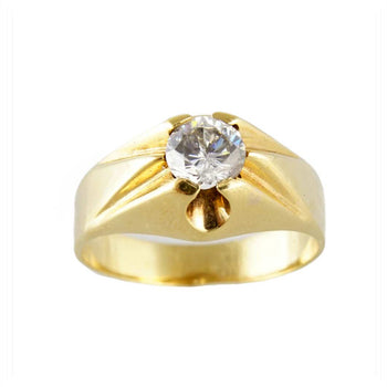RING YELLOW GOLD WITH CUBIC ZIRCONIA