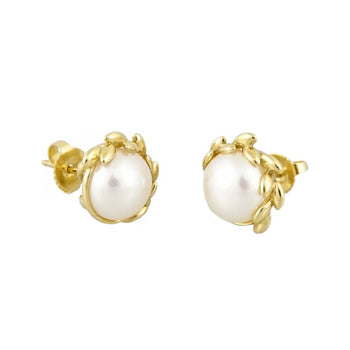 EARRINGS YELLOW GOLD 18KT WITH PEARLS
