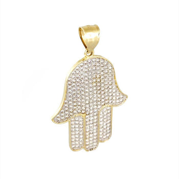 PENDANT CHARM GOLD 14KT WITH CUBIC ZIRCONIA
