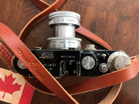 Classic Leather Camera Neck Strap for Leica Camera