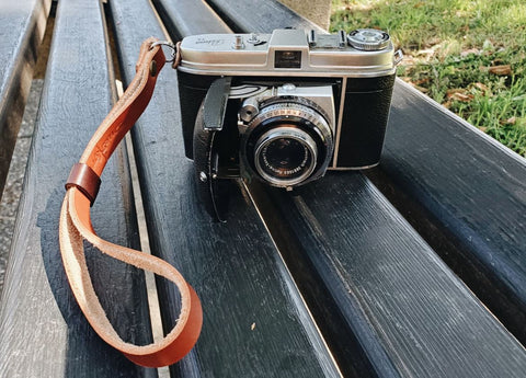 The Classic Leather Camera Wrist Strap by Due North Leather Goods