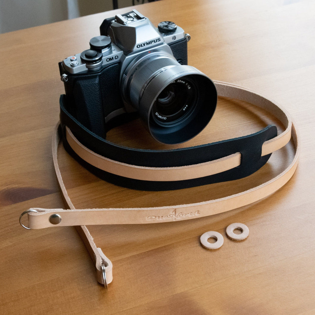 Bowman Series Leather Neck Strap - Due North Leather Goods