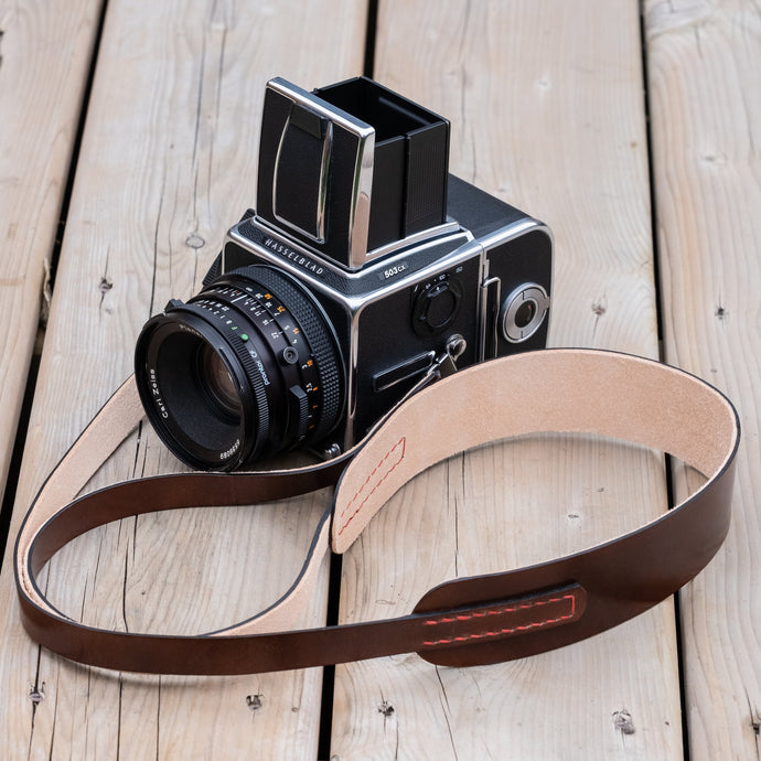 Newport Leather Camera Neck Strap for Hasselblad 500 series - Due North Leather Goods