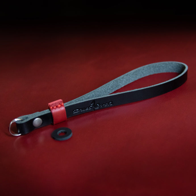 Red Tab Leather Wrist Strap - Due North Leather Goods