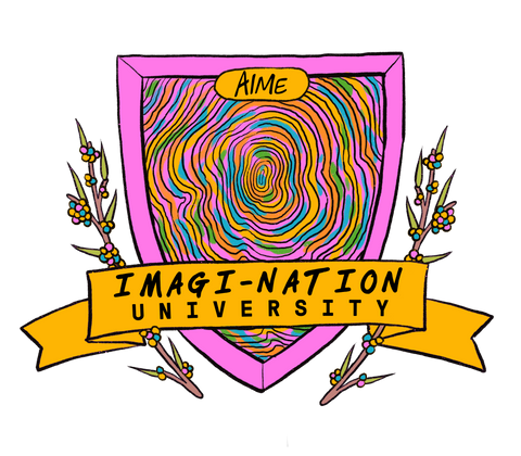 IMAGI-NATION {University} logo - colour