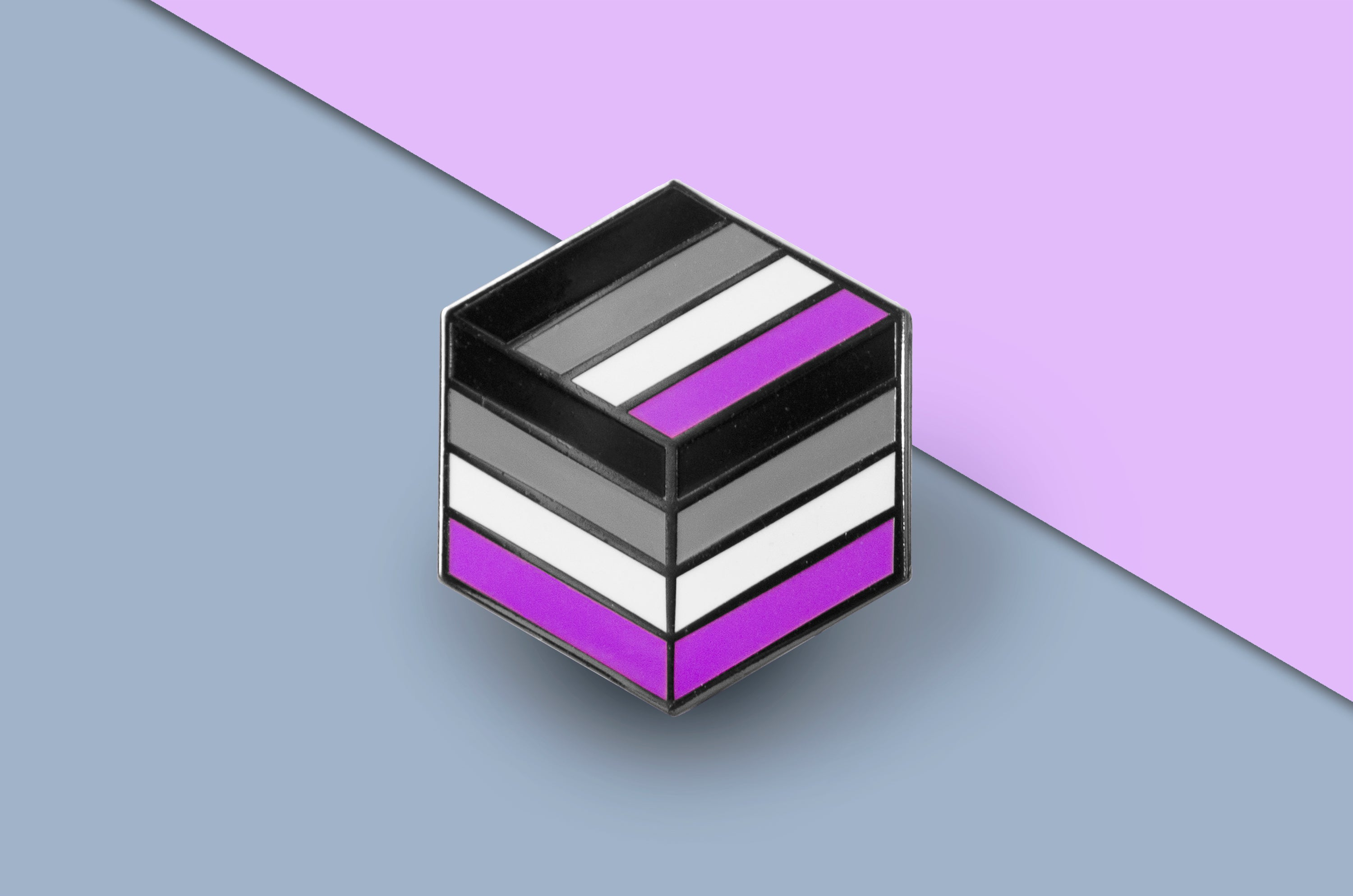 Asexual Pride - Flag Cube Pin