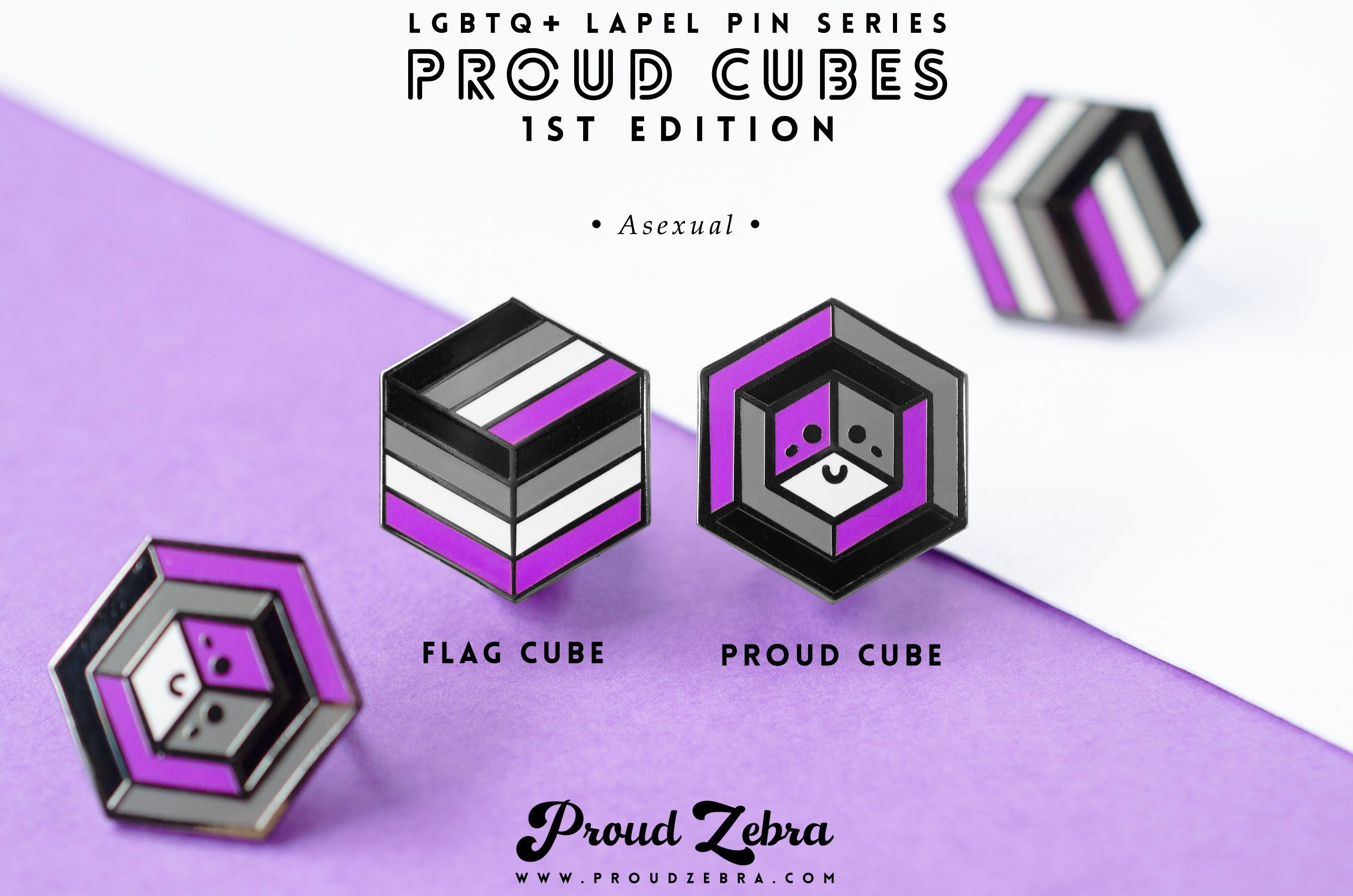 Asexual Pride - 1st Edition Pins [Set]