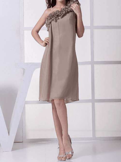 Chiffon Applique Plus Size Party Dresses UFD56